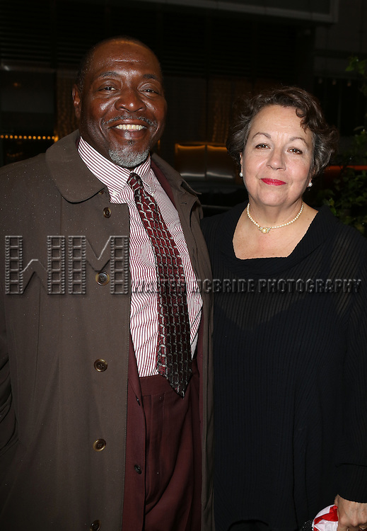 Chuck Cooper & Wife Deborah Brevoort  attending the 2013 Drama Desk Awards at Town Hall in New York City on May 19, 2013.
