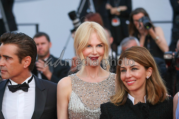 """24 May 2017 - Cannes, France - Actors Colin Farrell, Nicole Kidman, Sophia Coppola . """"The Beguiled"""" Premiere - The 70th Annual Cannes Film Festival. Photo Credit: Georg Wenzel/face to face/AdMedia"""