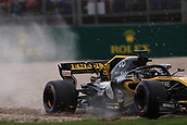 24th March 2018, Melbourne Grand Prix Circuit, Melbourne, Australia; Melbourne Formula One Grand Prix, qualifying; Renault Sport F1 Team; Nico Hulkenberg on the gravel
