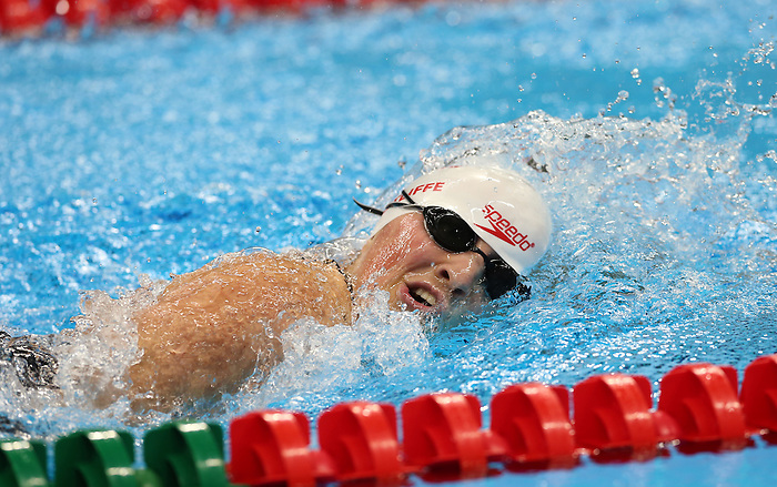 Rio de Janeiro-16/9/2016- Canadian swimmer  Tess Routliffe competes in the women's 100m final at the Olympic Aquatics Centre during the 2016 Paralympic Games in Rio. Photo Scott Grant/Canadian Paralympic Committee