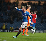 Dean Shiels celebrates his goal for Rangers