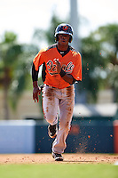 Baltimore Orioles Gerrion Grim (25) during an instructional league game against the Minnesota Twins on September 22, 2015 at Ed Smith Stadium in Sarasota, Florida.  (Mike Janes/Four Seam Images)