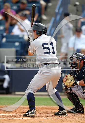 April 3, 2010:  Daniel Brewer (51) of the New York Yankees playing in the annual Futures Game during Spring Training at Legends Field in Tampa, Florida.  Photo By Mike Janes/Four Seam Images