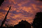 Urban sunset. Sydney, Australia. Tuesday 1st October 2013.(Photo:Steve Christo).