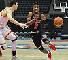 Savion Lewis #3 of Half Hollow Hills East, right, drives to the net during the second quarter of a non-league varsity boys basketball game against Chaminade at Nassau Coliseum in Uniondale on Sunday, Jan. 21, 2018. He departed the game early in the fourth quarter having scored a school record 50 points, including 20 in the second quarter, to lead Hills East to a 90-68 win.