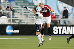 05 December 2008: Notre Dame's Kerri Hanks (2) and Stanford's Marisa Abegg (5). The Notre Dame Fighting Irish defeated the Stanford Cardinal 1-0 at WakeMed Soccer Park in Cary, NC in an NCAA Division I Women's College Cup semifinal game.