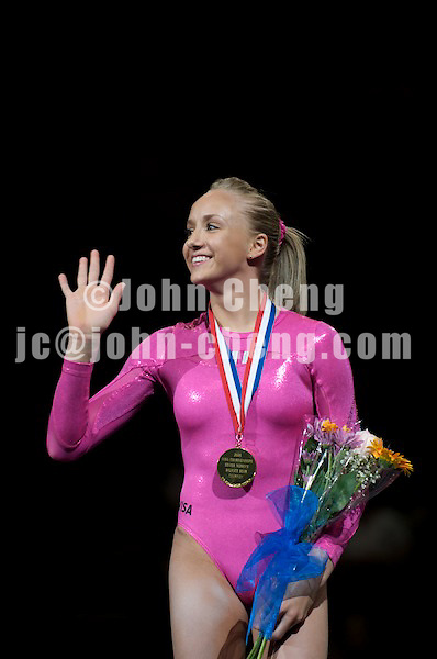 06/07/08 - Women's VISA Championships Agganis Areana in Boston Univeristy.  Sr Women Finals.PodiumNastia Liukin