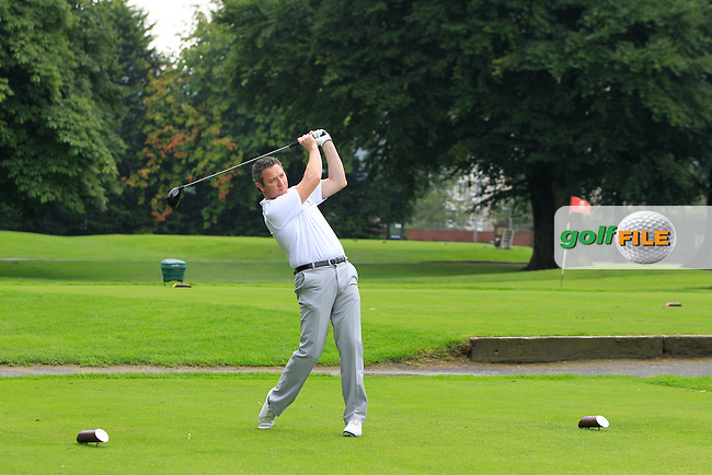 Garrett Mallon (North West) on the 3rd tee during the Ulster Semi-Final of the AIG Barton Shield at Knock Golf Club in Belfast on Sunday 23rd August 2015.<br /> Picture:  Thos Caffrey / www.golffile.ie