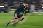 Cristiano Ronaldo of Juventus warm up before the UEFA Champions League match at Juventus Stadium, Turin. Picture date: 26th November 2019. Picture credit should read: Jonathan Moscrop/Sportimage