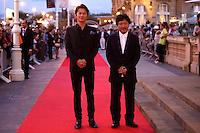 Director Hirokazu Kore-eda (R) and actor Masaharu Fukuyama (L) during the 61 San Sebastian Film Festival, in San Sebastian, Spain. September 20, 2013. (ALTERPHOTOS/Victor Blanco) /NortePhoto