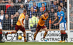 Ben Heneghan celebrates scoring for Motherwell