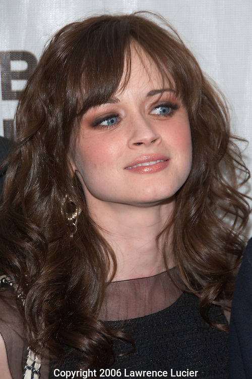 "Actress Alexis Bledel arrives at the Tribeca Film Festival for the screening of the film ""I'm Reed Fish"" at Regal Cinemas Battery Park April 29, 2006 in New York City.. (Pictured : Alexis Bledel)."