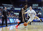 January 20, 2015 - Colorado Springs, Colorado, U.S. -  San Diego State forward, Malik Pope #21, drives the baseline during a Mountain West Conference match-up between the San Diego State Aztecs and the Air Force Academy Falcons at Clune Arena, U.S. Air Force Academy, Colorado Springs, Colorado.  San Diego State defeats Air Force 77-45.