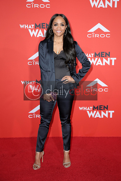 """Rachel Lindsay<br /> at the """"What Men Want"""" Premiere, Village Theater, Westwood, CA 01-28-19<br /> David Edwards/DailyCeleb.com 818-249-4998"""