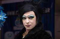 SAO PAULO, SP, 30 DE MAIO DE 2013 - 13 FEIRA CULTURAL LGBT - Nesta 5 feira 30 de maio ocorre a 13 Feira Cultura LGBT  no Vale do Anhangabaú. FOTO: MARCELO BRAMMER / BRAZIL PHOTO PRESS