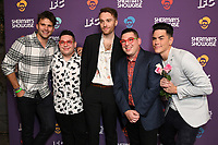 "30 July 2019 - West Hollywood, California - Tom Schwartz, Ezra Potash, Freddy Scott, Adeev Potash, Tom Sandoval. IFC's ""Sherman's Showcase"" Premiere Party held at The Peppermint Club. Photo Credit: Birdie Thompson/AdMedia"