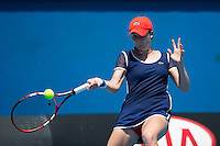 ALIZE CORNET (FRA)<br /> Tennis - Australian Open - Grand Slam -  Melbourne Park -  2014 -  Melbourne - Australia  - 16th January 2014. <br /> <br /> &copy; AMN IMAGES, 1A.12B Victoria Road, Bellevue Hill, NSW 2023, Australia<br /> Tel - +61 433 754 488<br /> <br /> mike@tennisphotonet.com<br /> www.amnimages.com<br /> <br /> International Tennis Photo Agency - AMN Images