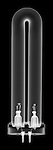X-ray image of a fluorescent tube (white on black) by Jim Wehtje, specialist in x-ray art and design images.