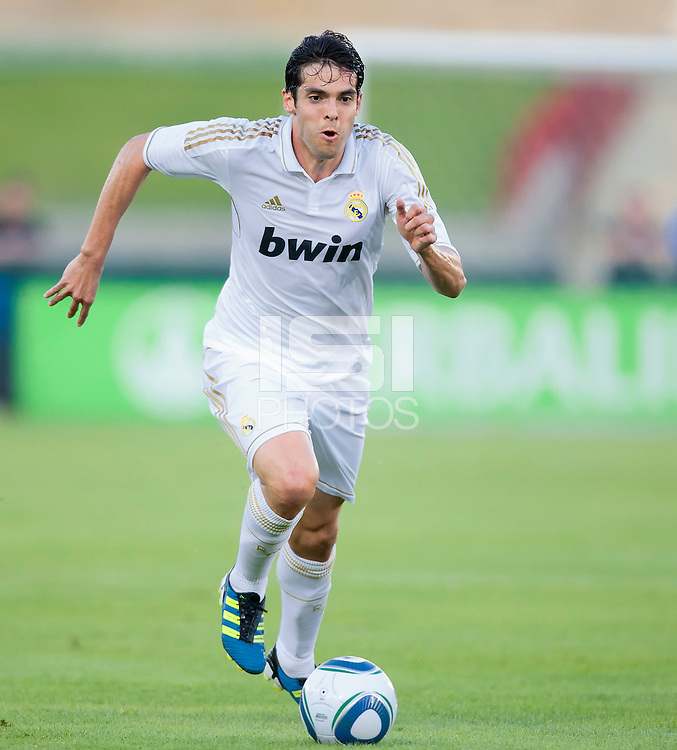 LOS ANGELES, CA – July 16, 2011: Kaka (8) of Real Madrid  during the match between LA Galaxy and Real Madrid at the Los Angeles Memorial Coliseum in Los Angeles, California.
