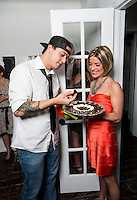 Chocolatier Melissa Parks serves marijuana chocolate at a cannabis after party in Denver, Colorado, Saturday, July 19, 2014. <br /> <br /> Photo by Matt Nager