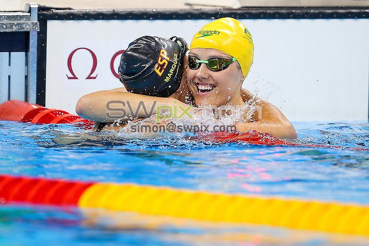 Picture by Rogan Thomson/SWpix.com - 16/09/2016 - 2016 Rio Paralympic Games - Swimming - Olympic Aquatics Centre, Rio de Janeiro, Brazil - Ellie Cole of Australia wins Gold in the Women's 100m Backstroke S9 Final.