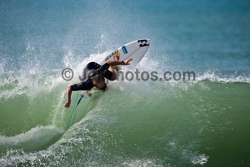TIAGO PIRES (PRT) surfing at Hossegor in the South West region of France. Photo: joliphotos.com