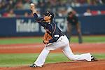 Hideaki Wakui (JPN), .February 26, 2013 - WBC : .2013 World Baseball Classic, Exhibithion Game .match between Japan 0-1 Hanshin Tigers  .at Kyocera Dome, Osaka, Japan..(Photo by AJPS/AFLO SPORT)