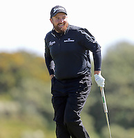 Sunday 31st May 2015; Shane Lowry, Ireland, on the 8th green<br /> <br /> Dubai Duty Free Irish Open Golf Championship 2015, Round 4 County Down Golf Club, Co. Down. Picture credit: John Dickson / DICKSONDIGITAL