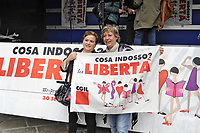 - Milano, 30 Settembre 2017, manifestazione contro la violenza sulle donne organizzata dalla CGIL &quot;Cosa indosso? La Libert&agrave;&quot;.<br /> <br /> - Milan, 30 September 2017, demonstration against violence on women organized by CGIL &quot;What do I wear? Freedom&quot;.