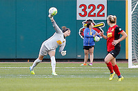 Rochester, NY - Saturday July 09, 2016: Western New York Flash goalkeeper Katelyn Rowland (0) during a regular season National Women's Soccer League (NWSL) match between the Western New York Flash and the Seattle Reign FC at Frontier Field.
