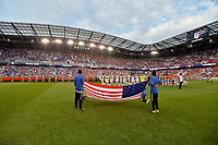 Harrison, N.J. - Friday September 01, 2017: The National teams of USA and Costa Rica starting eleven's during a 2017 FIFA World Cup Qualifying (WCQ) round match between the men's national teams of the United States (USA) and Costa Rica (CRC) at Red Bull Arena.