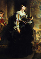 Peter Paul Rubens 1577-1610. Helene Fourment au carrosse.  Louvre.  Reference only.
