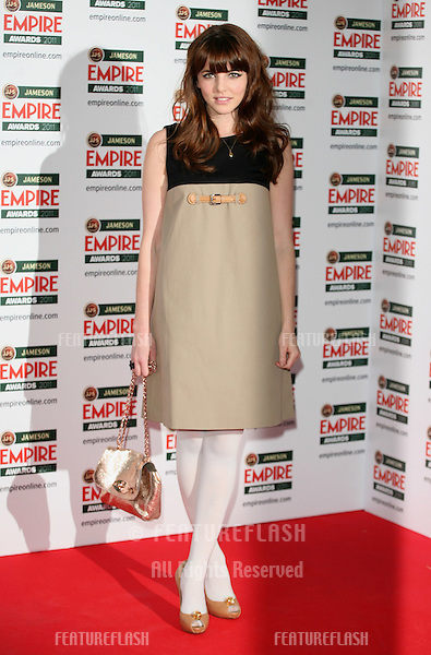 Ophelia Lovibond arriving for the Jameson Empire Awards 2011, Grosvenor House Hotel, London. 27/03/2011  Picture by: Alexandra Glen / Featureflash