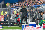08.09.2017, Volksparkstadion, Hamburg, GER, 1.FBL, Hamburger SV vs RB Leipzig<br /> <br /> im Bild<br /> Ralph Hasenh&uuml;ttl / Hasenhuettl (Trainer RB Leipzig #Trainer Headcoach) in Coachingzone, Harm Osmers (4. Offizieller Schiedsrichter / 4th referee), <br /> <br /> Foto &copy; nordphoto / Ewert