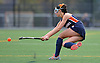 Manhasset No. 5 Lindsay Gallo hits a ball downfield during the Nassau County varsity field hockey Class B final against Garden City at Adelphi University on Sunday, November 1, 2015. Garden City won by a score of 9-0.<br /> <br /> James Escher