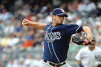 Tampa Bay Rays pitcher James Shield #33 during a game against the New York Yankees at Yankee Stadium on September 21, 2011 in Bronx, NY.  Yankees defeated Rays 4-2.  Tomasso DeRosa/Four Seam Images