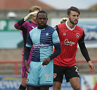 Myles Weston of Wycombe Wanderers during the Sky Bet League 2 match between Morecambe and Wycombe Wanderers at the Globe Arena, Morecambe, England on 29 April 2017. Photo by Stephen Gaunt / PRiME Media Images.