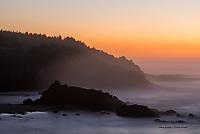 Rabbit Rock at twilight, Oregon Coast