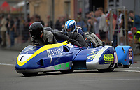 Masterton's Spike Taylor and Astrid Hartnell compete in F1 Sidecars race one. The 2017 Suzuki series Cemetery Circuit motorcycle racing at Cooks Gardens in Wanganui, New Zealand on Tuesday, 27 December 2017. Photo: Dave Lintott / lintottphoto.co.nz