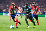 Atletico de Madrid's Lucas Hernanez and Koke Resurreccion and Chelsea's N'Golo Kante during UEFA Champions League match between Atletico de Madrid and Chelsea at Wanda Metropolitano in Madrid, Spain September 27, 2017. (ALTERPHOTOS/Borja B.Hojas)