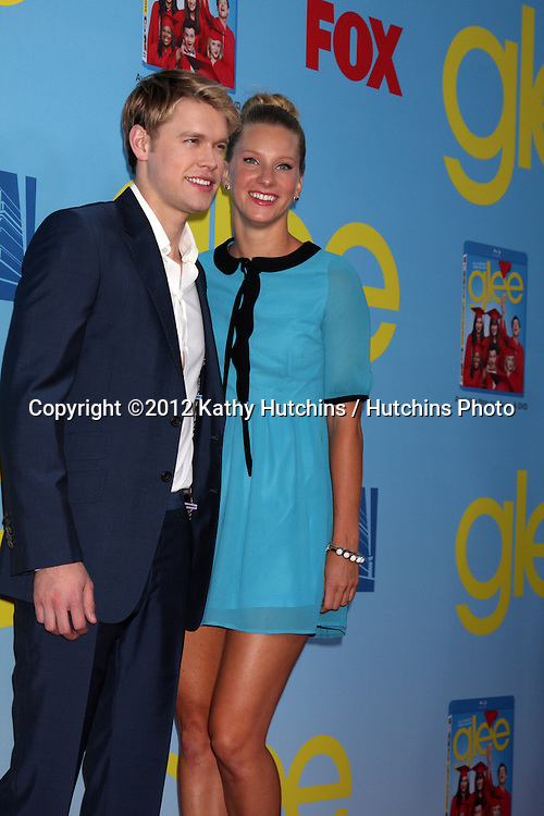 LOS ANGELES - SEP 12:  Chord Overstreet, Heather Morris arrives at the Glee 4th Season Premiere Screening at Paramount Theater on September 12, 2012 in Los Angeles, CA