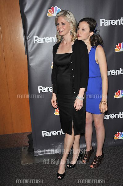 "Monica Potter (left) & Sarah Ramos at the premiere for their new NBC TV series ""Parenthood"" at the Directors Guild of America..February 22, 2010  Los Angeles, CA.Picture: Paul Smith / Featureflash"