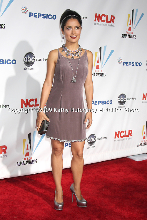 Salma Hayak.arriving at the 2009 ALMA Awards.Royce Hall, UCLA.Los Angeles, CA.September 17, 2009.©2009 Kathy Hutchins / Hutchins Photo.