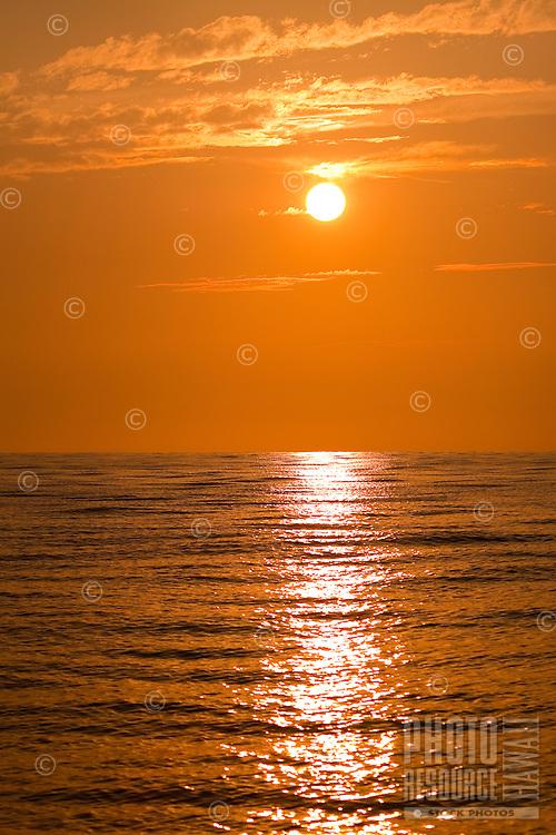 A sunset off of Kona, Big Island.