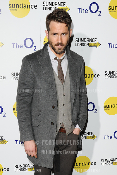 "Ryan Reynolds at the screening of ""The Voices"" as part of Sundance London 2014, O2 arena, London. 27/04/2014 Picture by: Steve Vas / Featureflash"