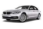 Stock pictures of low aggressive front three quarter view of 2017 BMW 5-Series Sport 4 Door Sedan Low Aggressive