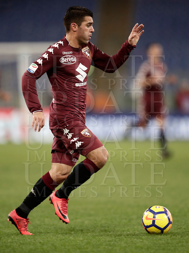 Calcio, Serie A: Roma, stadio Olimpico, 11 dicembre 2017.<br /> Torino's Iago Falque in action during the Italian Serie A football match between Lazio and Torino at Rome's Olympic stadium, December 11, 2017.<br /> UPDATE IMAGES PRESS/Isabella Bonotto
