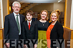 John, Daniel, Tara and Breeda Whittington, Cahersiveen, attending the Lee Strand/Kerry Garda Youth Achievement Awards 2017 at Ballyroe Heights Hotel, Tralee, on Friday night last.