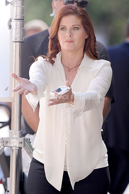 WWW.ACEPIXS.COM . . . . . .August 29, 2012...New York City....Debra Messing on the set of the TV show 'Smash' on August 29, 2012 in New York City ....Please byline: KRISTIN CALLAHAN - ACEPIXS.COM.. . . . . . ..Ace Pictures, Inc: ..tel: (212) 243 8787 or (646) 769 0430..e-mail: info@acepixs.com..web: http://www.acepixs.com .