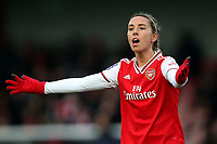 Jordan Nobbs of Arsenal appeals a decision during Arsenal Women vs Liverpool Women, Barclays FA Women's Super League Football at Meadow Park on 24th November 2019
